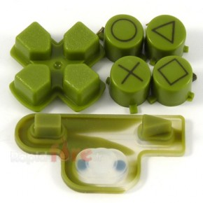 Boutons + Dpad Vert Camo PS3