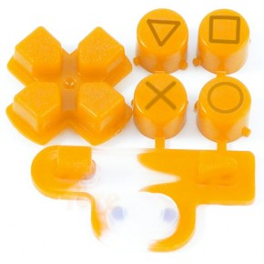 Buttons Orange PS3