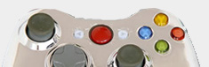 manette chrome pour Xbox 360