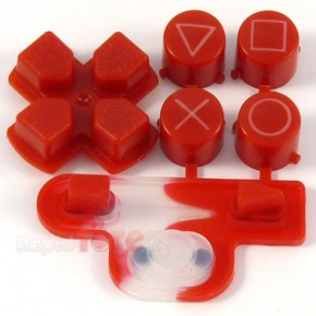 Boutons + Dpad Rouge PS3